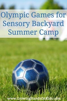 Olympic summer games for a backyard sensory summer camp.