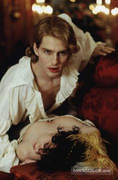 Interview With The Vampire - Publicity still of Tom Cruise & Helen McCrory Tom Cruise, Real Vampires, Vampires And Werewolves, Dracula, Lestat And Louis, Vampire Love, Brad Pitt Vampire, Vampire Kiss, Beyond Good And Evil