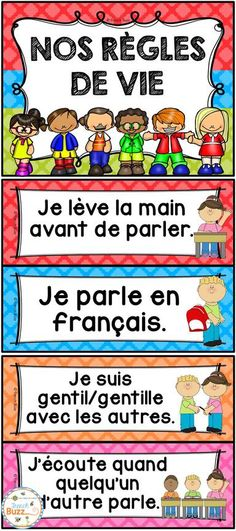 Discover recipes, home ideas, style inspiration and other ideas to try. French Classroom Decor, Classroom Rules, Classroom Language, Teaching French Immersion, French Teaching Resources, Primary Teaching, Teaching Spanish, French Worksheets, French Education