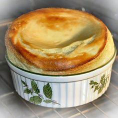 Alsace Souffle au Kirsch, Alsace specialty dessert. Soufflé au Kirsch