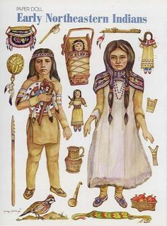 Free Printable Early Northeastern Indians Paper Dolls