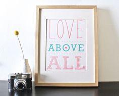 sass - Love Above All Screenprint