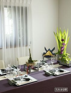 本日5月5日、端午の節句、立夏のテーブルコーディネート の画像  花のテーブルコーディネート