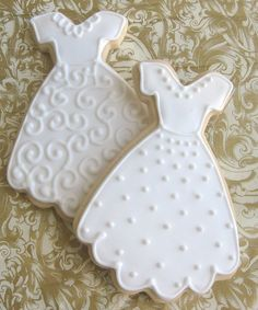 (20) complete - Wedding Dress Sugar Cookies