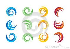 Circle water logo,wind sphere plant leaves,wings flame sun abstract infinity Set of round icon symbol vector design - http://www.dreamstime.com/stock-photography-image52163963#res7049373