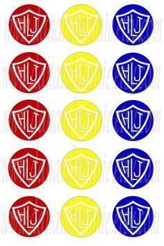 Imágenes digitales españolas ctr, Haz Lo Justo, colores primarios 1 pulgada círculo para tapas de botellas, scrapbooking, etiquetas hoja de collage digital de 4 X 6