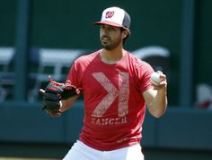 Washington Nationals starting pitcher Gio Gonzalez throws before a baseball game against the Miami Marlins at Nationals Park Monday, May 26,...