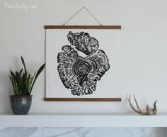 DIY Poster Hangers- great for large prints
