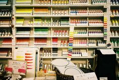 Gekkoso An art supply store in Ginza that's been around for 100 years.