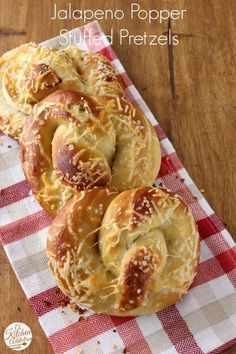{woah times 10!!} Jalapeno Popper Stuffed Pretzels Recipe from @Jessica l A Kitchen Addiction