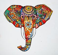 I know, more elephants, but just look up Elephant Art and you'll find all kinds of fun things like this that came from a t-shirt!