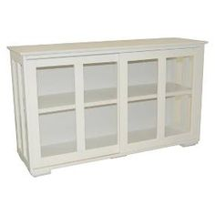 Pacific Stackable Sliding Glass Doors Cabinet - Antique White