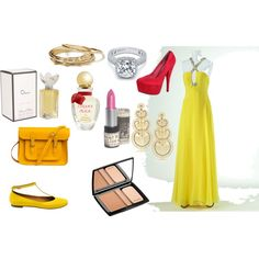 yellow, created by #drue-young on #polyvore. #fashion #style See by Chloe Jack BB Dakota