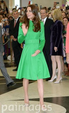 The Duke and Duchess of Cambridge attend a Reception in the Great Hall at Parliament House, Canberra.