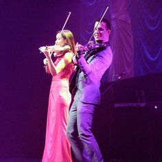 FUSE electric violinists Linzi Stoppard and Ben Lee live in Boston.