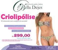 Bella Dejes Clínica de Saúde e Beleza: CRIOLIPÓLISE - PROMOÇÃO IMPERDÍVEL - NÃO PERCAM!!!...