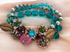 Miriam Haskell Bracelet by AnushsTreasures on Etsy, $230.00 There are small seed pearls missing on the leaves