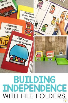 Need ideas to work on basic concepts for your toddler, preschooler, or special education / speech therapy student? These basic skill file folders are great for kids who need something they can do on their own at their independent work station. They work on pre-academic foundational learning skills such as matching, letters, numbers, colors, shapes, categories, and sorting and can help teachers make learning fun! 8 FREE printable errorless folders! #teacherfreebie #independentwork