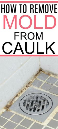 Need to clean moldy shower caulk? Check out this simple tip on how to remove mold from caulk. Clean even black mold easily from your shower and bathroom with these easy tricks. Cleaning Tips How To Remove Mold From Caulk Diy Home Cleaning, Bathroom Cleaning Hacks, Homemade Cleaning Products, Household Cleaning Tips, Cleaning Recipes, House Cleaning Tips, Natural Cleaning Products, Cleaning Supplies, Clean House Tips