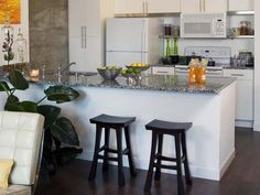 black kitchen stools