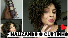 Como finalizar cabelos cacheados curtos - Gel Creme 2 em 1 Dhonna - YouTube