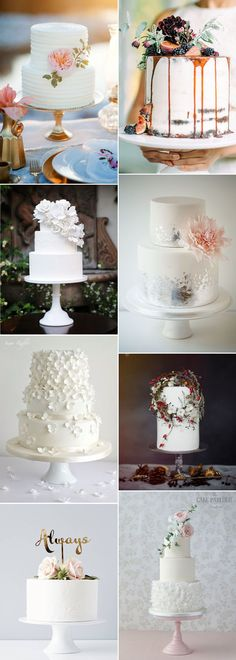Wonderful non-traditional white wedding cakes on GS Inspiration - Glitzy Secrets