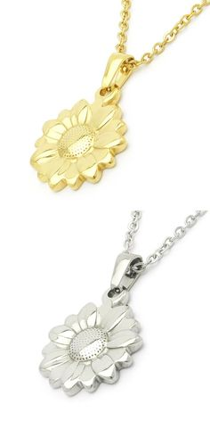 NIENDO brand sunflower necklace for womens girls,new romantic jewelry stainless steel 2017 kid pendants necklaces LP209
