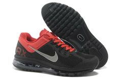 Nike Air Max+ 2013 Running Charcoal Black Red Shoes
