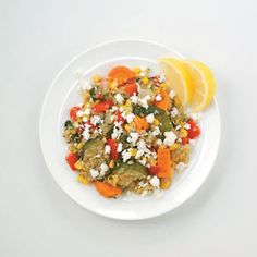 Quinoa with Roasted Veggies and Feta- good  Too much oregano and carrots weren't cooked through though.