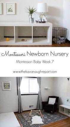 Montessori Newborn Nursery -- Montessori Baby Week 7