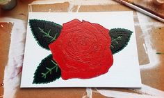 Rose & Glitter Painting by NocturnalPandie on Etsy