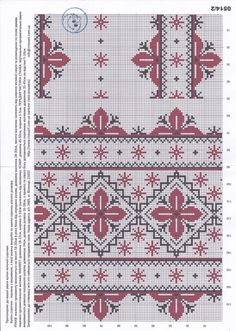 Towel Embroidery, Folk Embroidery, Cross Stitch Embroidery, Cross Stitch Patterns, Needlepoint Patterns, Knitting Patterns, Cross Stitch Flowers, Cross Stitching, Blackwork