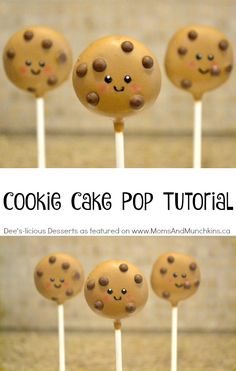 Cookie Cake Pop Tutorial - a fun idea for cake pops perfect for a party treat for kids. So easy to make too!