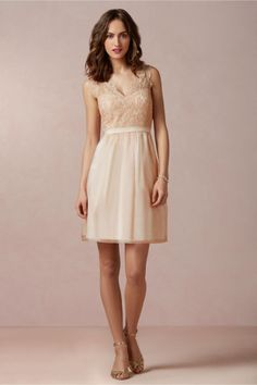 Claudine Bridesmaids Dress in Blush Rose from BHLDN
