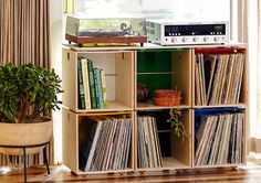 Storing your record collection and turntable setup can be quite a challange…