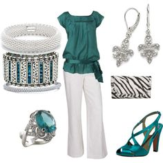 Teal and zebra.  I love the combination!
