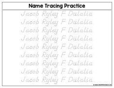 Custom Name Tracing Worksheet - Preview   Create Custom Printables & Worksheets Printable Name Tracing, Name Tracing Worksheets, Printables, Names, Words, Create, Print Templates, Horse