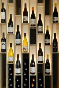 Wine rack series PRESTIGE made of solid oak stained brown Wine World Wine Rack Design, Wine Cellar Design, Wine Cellar Modern, Wine Rack Wall, Wine Wall, Diy Wine Racks, Wine Cellar Racks, Wine Bottle Rack, Wine Bottles