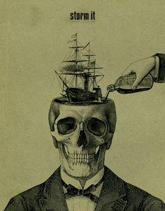 Clever Skull art