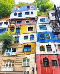 Likes, 48 Comments - Wien Places To Travel, Travel Destinations, Friedensreich Hundertwasser, Vienna, Family Travel, House Design, Photo And Video, Architecture, House Styles