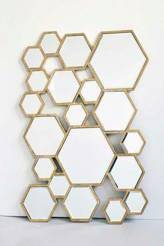 Hexagon mirror spiegel zeshoek