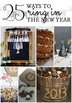Just a few more days till we say goodbye to this year and welcome in a new one!  I've gathered 25 ways to ring in the new year in style … or at least with a bit of DIY flair {and a whole lot of glitter and sparkle}!  Get your new year off to a …