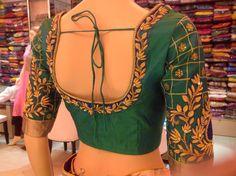 Wedding Saree Blouse Designs, Best Blouse Designs, Pattu Saree Blouse Designs, Blouse Neck Designs, Hand Work Blouse, Maggam Work Designs, Embroidery Neck Designs, Designer Blouse Patterns, Blouse Models