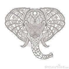 Elephant. Ethnic patterned vector illustration