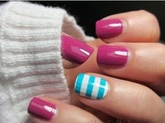 awesome 45 Simple Nail Designs for Short Nails by http://www.nail-artdesign-expert.top/nail-design-for-short-nails/45-simple-nail-designs-for-short-nails-2/