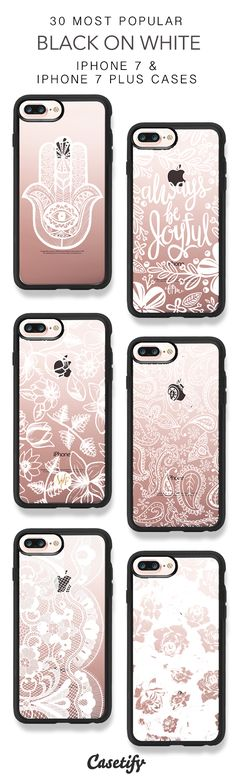 30 Most Popular Black On White Protective iPhone 7 Cases and iPhone 7 Plus Cases. More Pattern iPhone case here > https://www.casetify.com/collections/top_100_designs#/?vc=hW8hATToZA