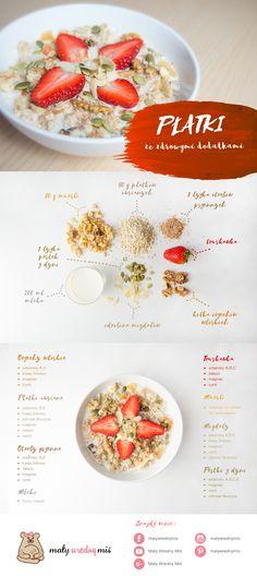 Dieta na płodność - Przepisy! - Płatki ze zdrowymi dodatkami Muesli, Health, Fitness, Food, Recipes, Health Care, Granola, Essen, Meals
