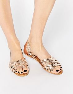 Image 1 of ASOS JINNY Leather Summer Shoes