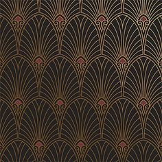 Bradbury Art Deco Designs | Havana Wallpaper in Noir