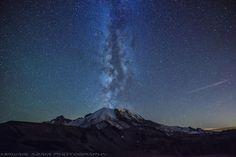 Mt.Rainier Milky Way eruption | Flickr - Photo Sharing!